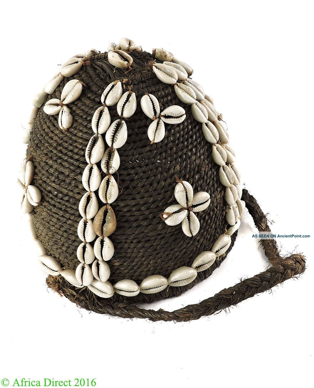 Lega Bwami Hat With Cowrie Shells Congo African Art Was $99 Other African Antiques photo