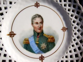 Antique Xix French Porcelain Hand Painted Plate King Charles X Of France photo