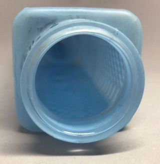 Art Deco Bullet Skyscraper Torpedo Glass Lamp Shade Light Blue photo