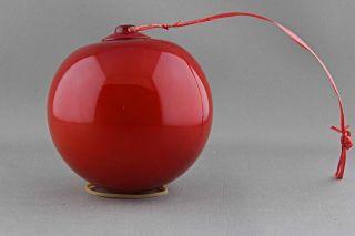 Rare Vintage Red Holmegaard Ball Michael Bang photo