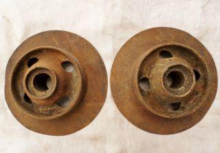 Antique Metal John Deere Industrial Wheel Gears Farm Steampunk Repurpose photo