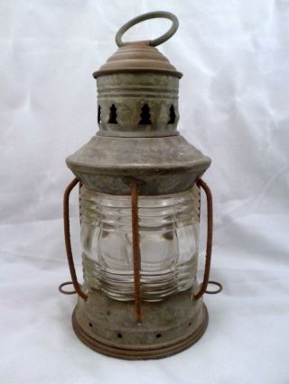 Antique Maritime Oil Masthead Anchor Light,  National Lamp Co photo