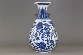 Delicate Chinese Hand Painted Blue And White Porcelain Vase 06 photo