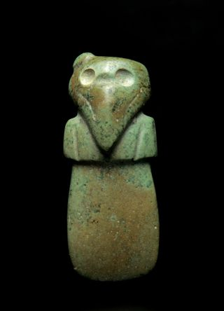Exhibited Pre Columbian Costa Rican Jadeite Bird Pendant 800 Ad photo