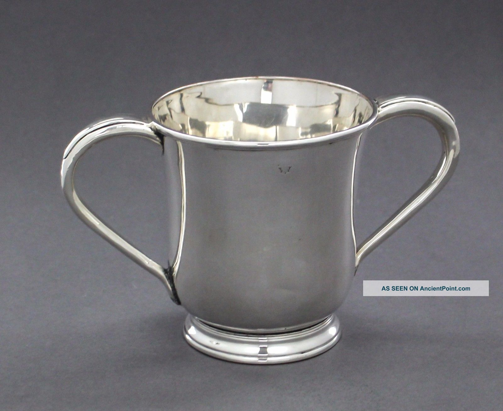 Antique Old Sheffield Silver Plate 1 Pint Loving Cup Two - Handle Jug Jewish Natla Cups & Goblets photo