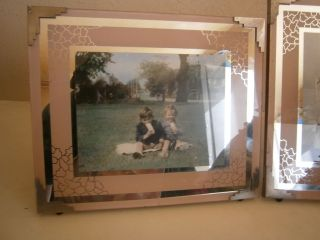 2 X Lovely Vintage Art Deco Picture Photo Frame Muffin The Mule photo