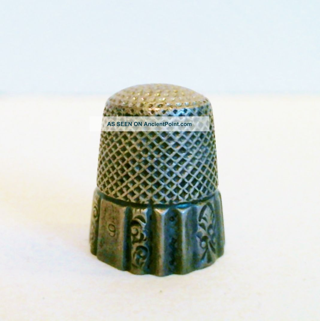 Sterling Silver Thimble Ketcham & Mcdougall Ny Size 9 Antique C 1900 Thimbles photo