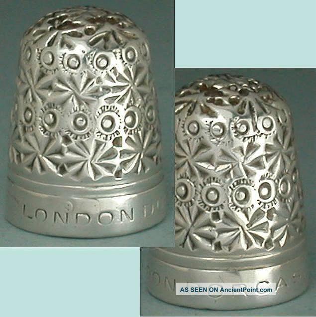 Rare Antique Sterling Silver Clad London Dorcas Thimble By C Horner Circa 1900s Thimbles photo