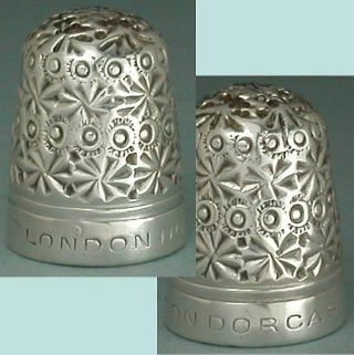Rare Antique Sterling Silver Clad London Dorcas Thimble By C Horner Circa 1900s photo
