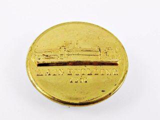 1876 Philadelphia Centennial Expo World ' S Fair Main Bldg Souvenir Brass Button photo