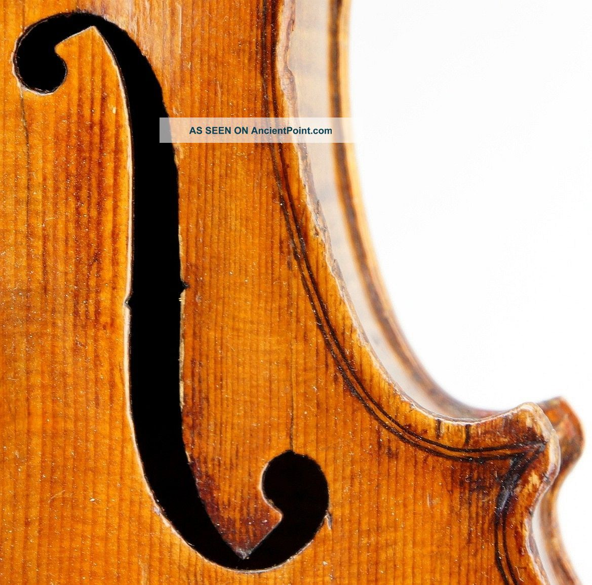 Very Old And Fine Antique Violin C.  1840 Grafted Scroll,  Great Tone,  Ready To Play String photo