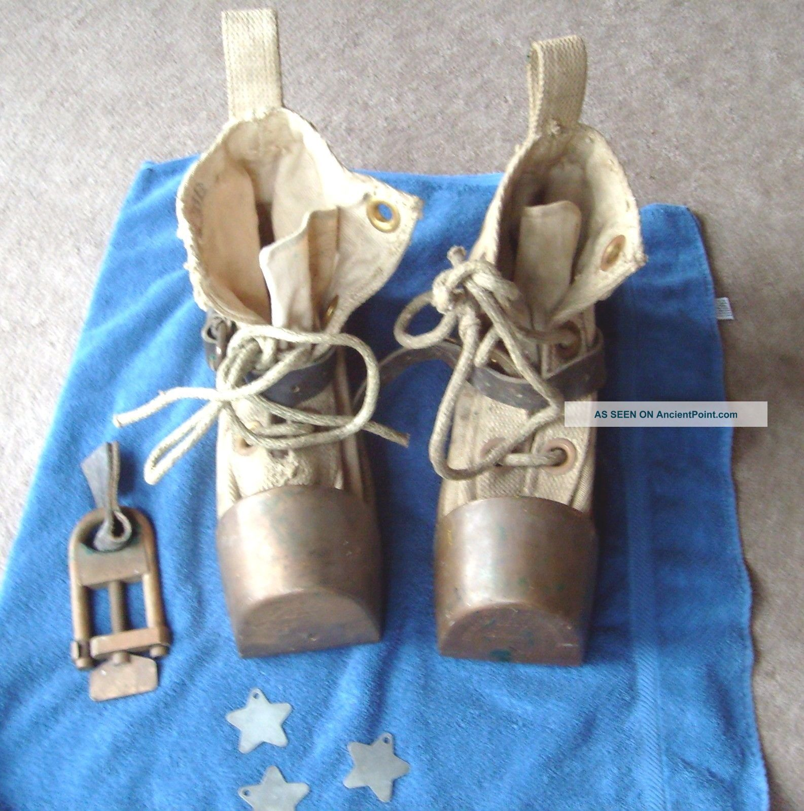 Vintage Us Navy Diving Boots Desco Bronze, Diving Helmets photo