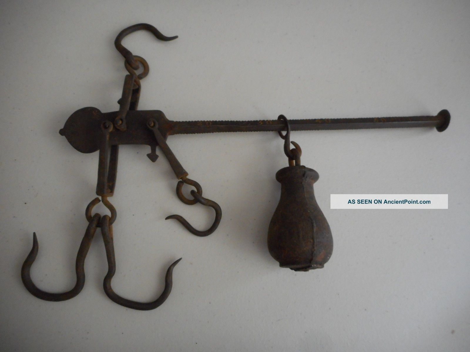 Antique Metal Cast Iron Scale Parts Balance Arm Weight Hardware Old Vintage Scales photo