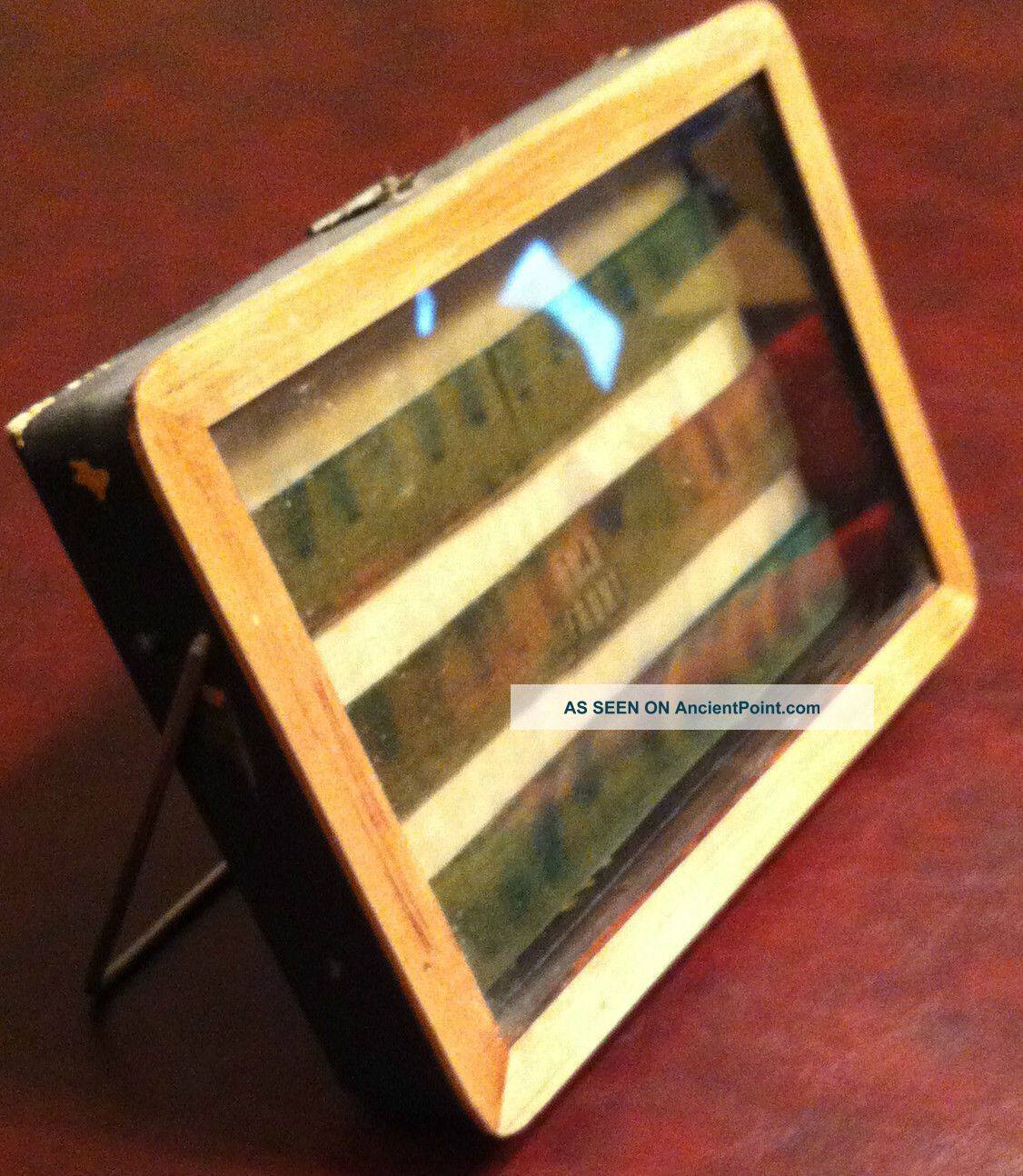 Antique Old Sadler ' S Tie Clasps Small Counter Top Store Display Case Jewelry Display Cases photo