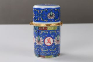 Chinese Painting Flower Porcelain Toothpick Holder / Gift Box H651 photo