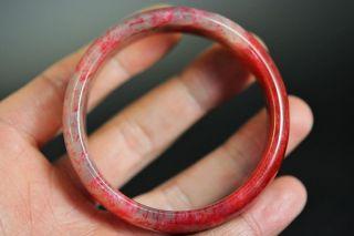 Natural Bloodstone Carved Bracelet Bangle Jp207 photo