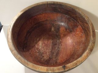 Antique Old Primitive Wooden Wood Bowl 12