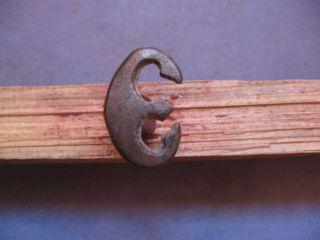 Crescent Moon Pendant Ancient Celtic Bronze Lunar Amulet 600 - 400 B.  C. photo