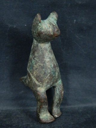 Ancient Bronze Cat Islamic 1200 Ad $br2041 photo