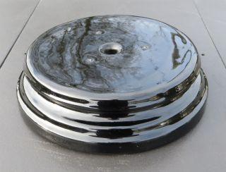 Vintage Black Ceramic Oil Lamp Base Plinth - Veritas Lamp 231 photo