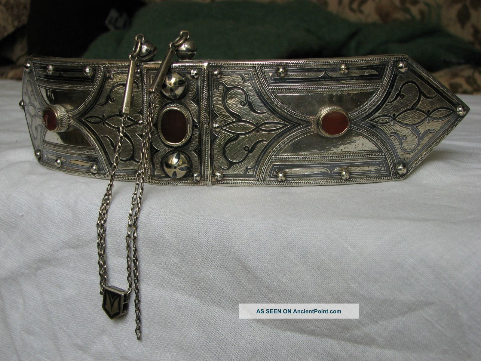 19th Century Silver - Niello - Islamic - Buckle - Russia - Caucasus - Caucasian Islamic photo