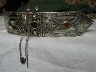 19th Century Silver - Niello - Islamic - Buckle - Russia - Caucasus - Caucasian photo