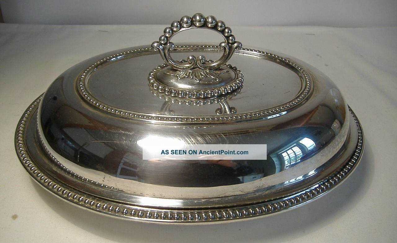 Mappin & Webb Silver Plated Oval,  Lidded Entree Dish With Snap To Handle. Dishes & Coasters photo