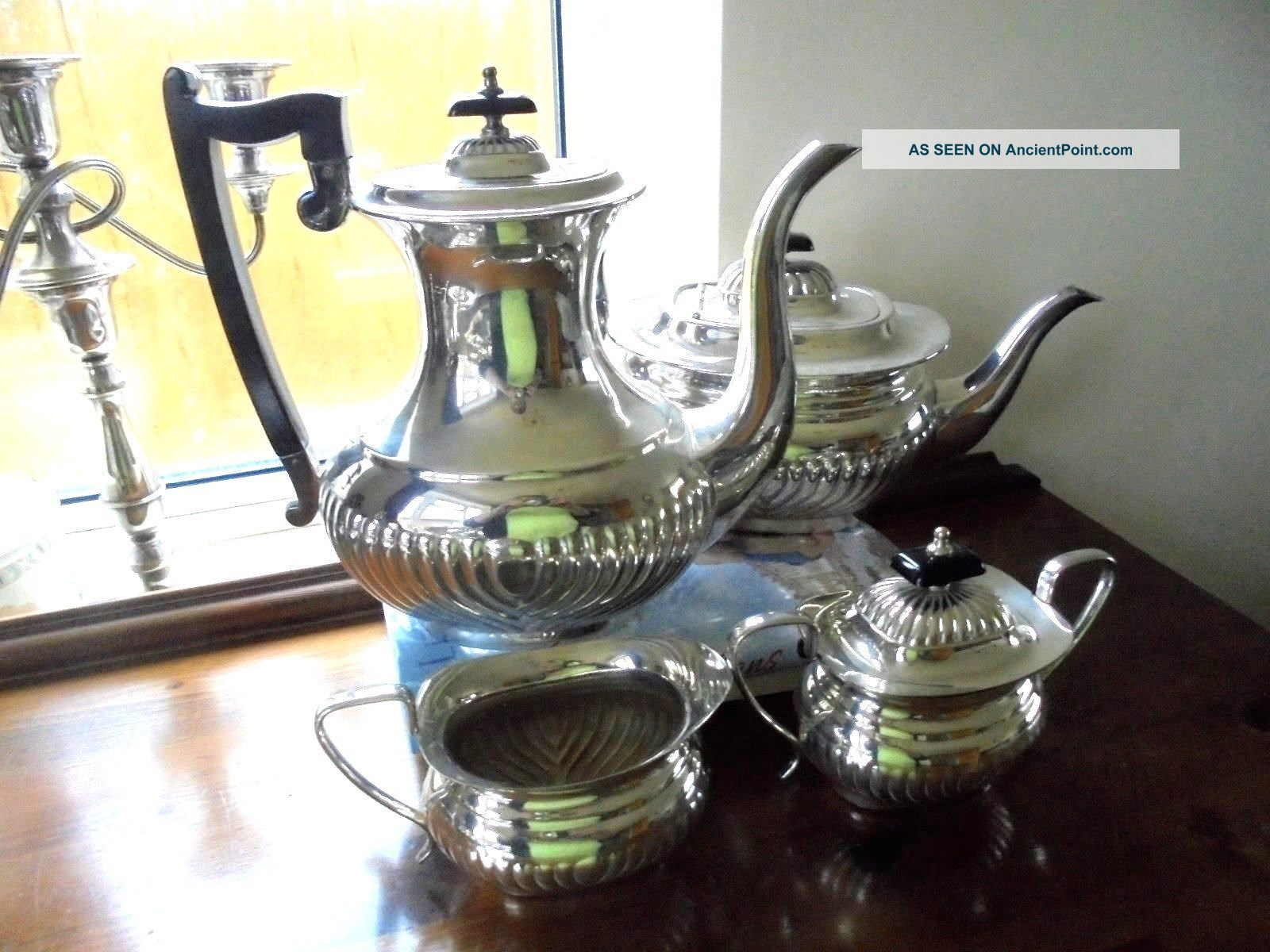Viners Silver Plated Tea Service Tea/Coffee Pots & Sets photo