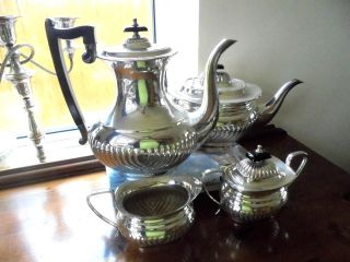 Viners Silver Plated Tea Service photo