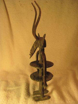 Antique African Bronze Statue  2 photo