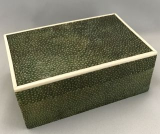 French Art Deco Period Shagreen Box With Inlaid Edges, photo