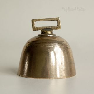 Vintage Antique Brass Arts & Crafts Bell With Lead Clapper - Uk P&p photo