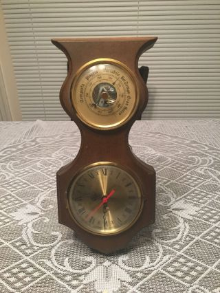 Vintage Clock And Barometer photo