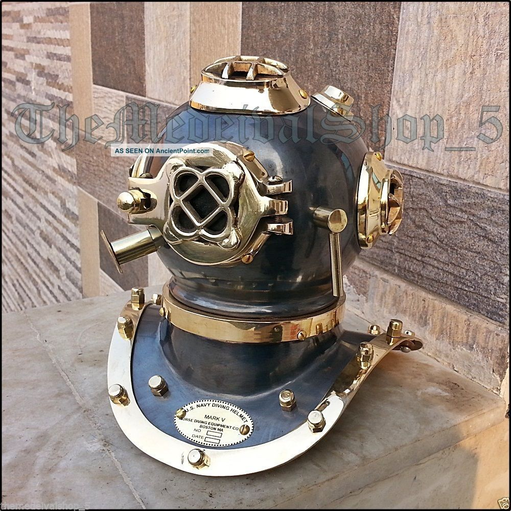 Us Navy Mark Iv Brass Copper Scuba Deep Sea Sca Divers Diving Helmet Decor Gift Other Maritime Antiques photo