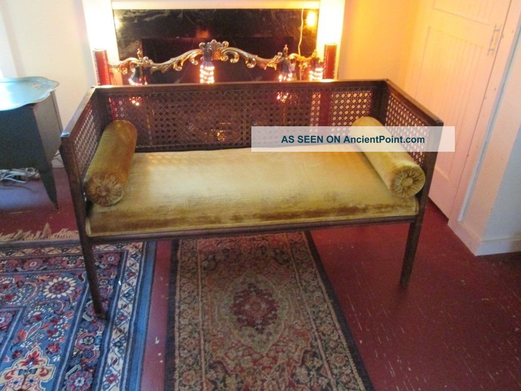 Vtg Cane Mid Century Settee Post-1950 photo
