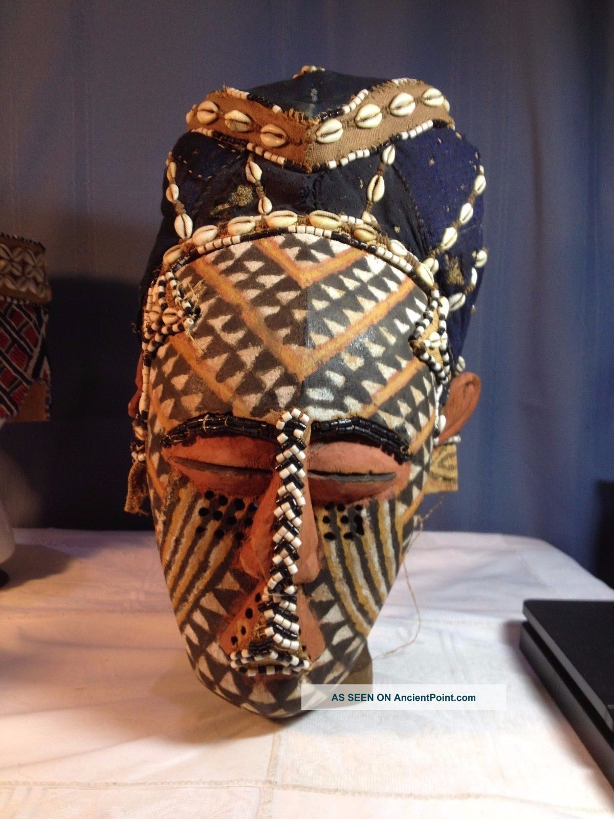 African Tribal Art - A Kuba Ngady Mwaash African Helmet Mask, Other African Antiques photo