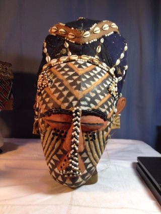 African Tribal Art - A Kuba Ngady Mwaash African Helmet Mask, photo