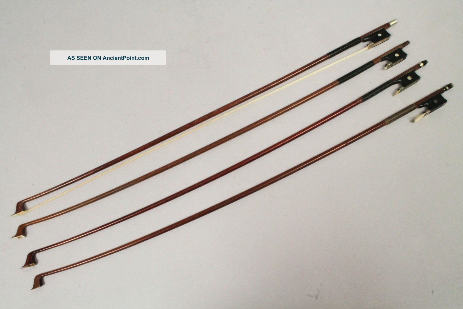 Vintage Early 20c Group 4 Violin Bows & Restoration Incl L Bausch String photo