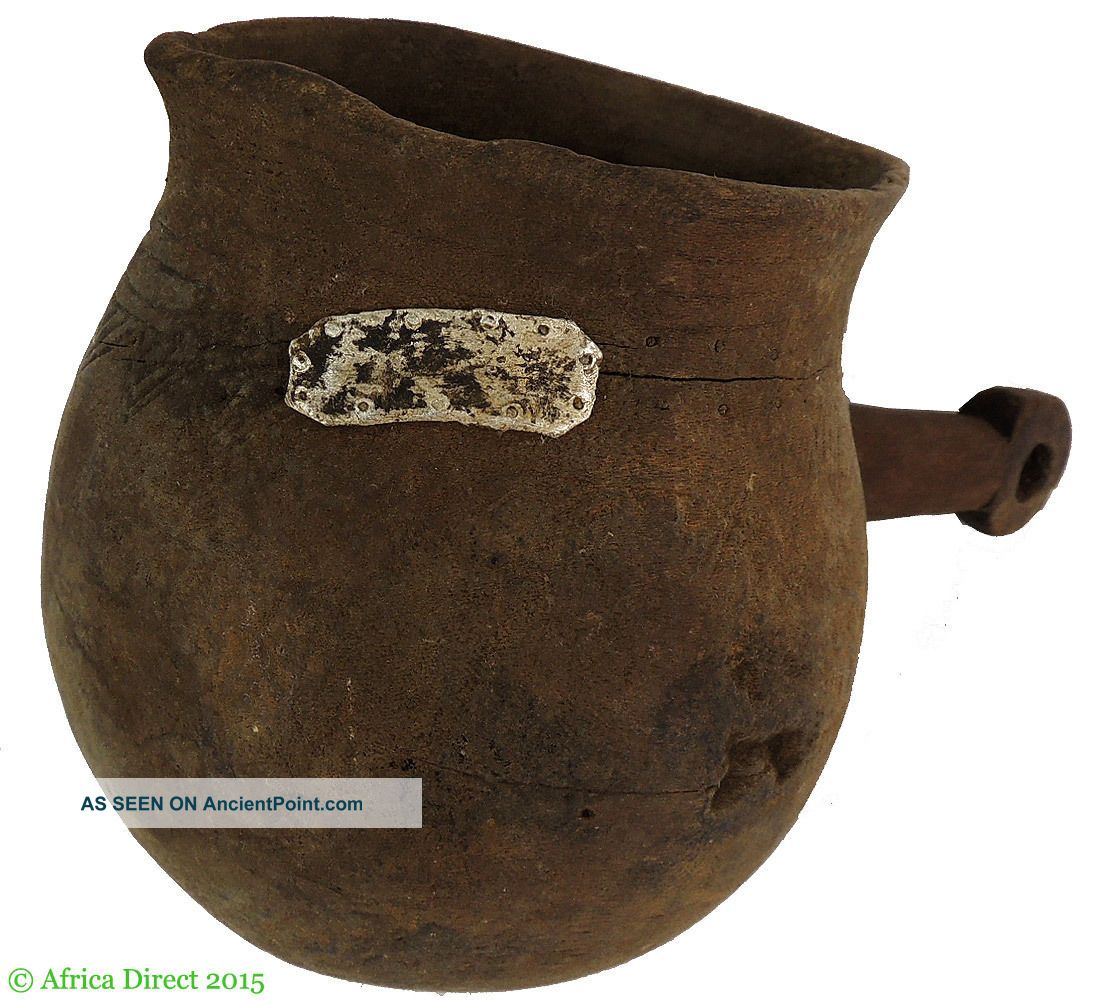 Shi (bashi) Wood Pitcher With Handle Congo African Art Was $90.  00 Other African Antiques photo