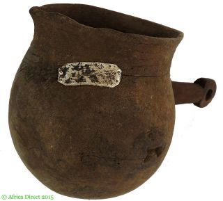 Shi (bashi) Wood Pitcher With Handle Congo African Art Was $90.  00 photo