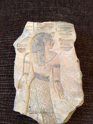 Rare Large Ancient Egyptians Limestone Queen Nefertari (c.  1295 - 1255 B.  C. ) photo