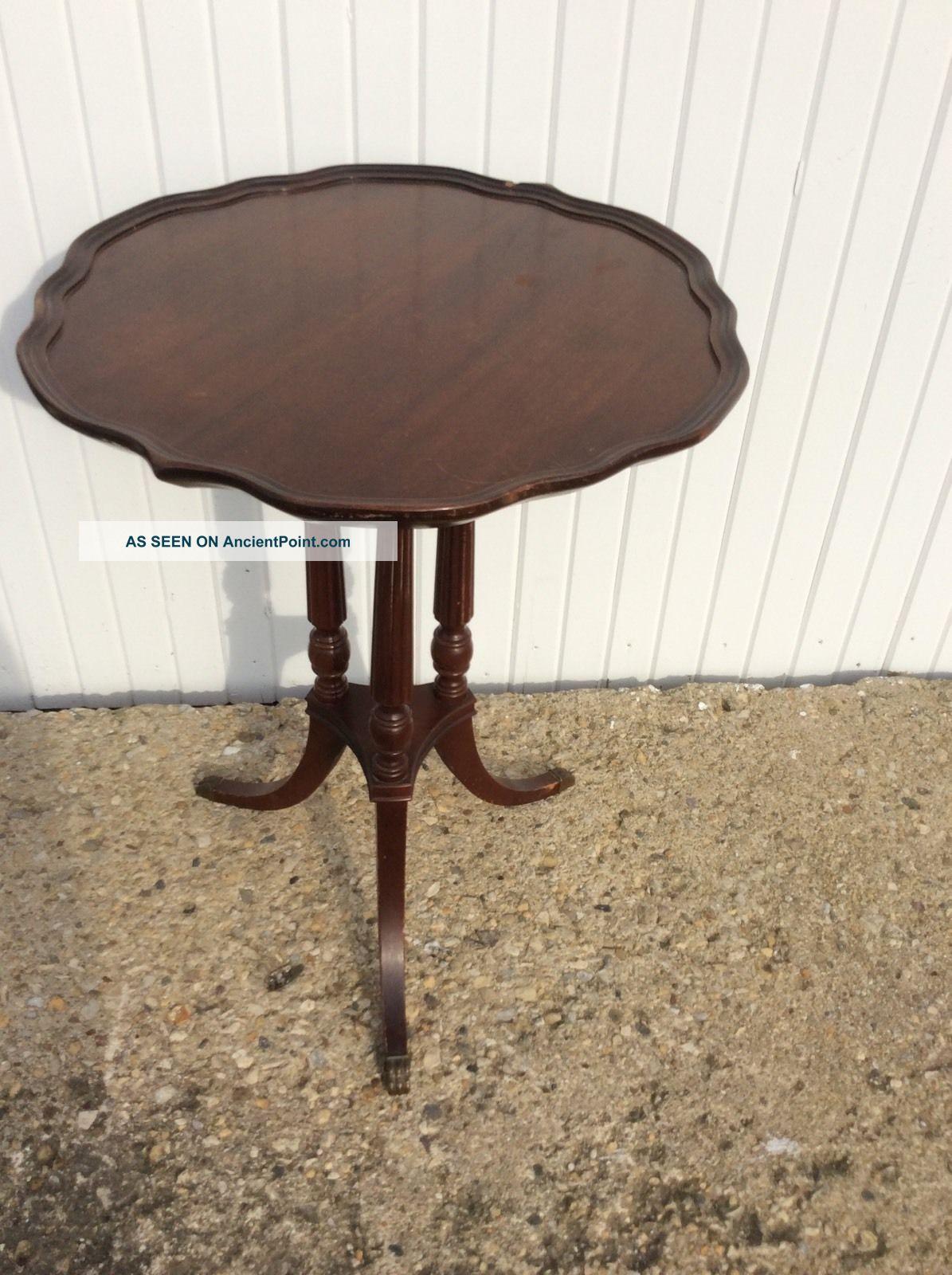 Vintage Mersman End Table Mahogany Sofa Fern Lamp Side End Table 1900-1950 photo