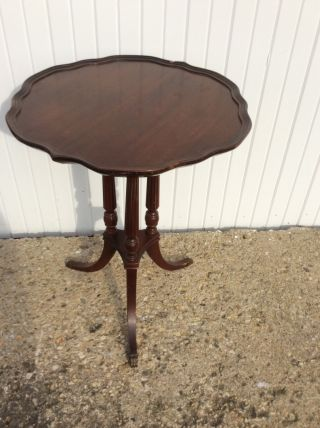 Vintage Mersman End Table Mahogany Sofa Fern Lamp Side End Table photo