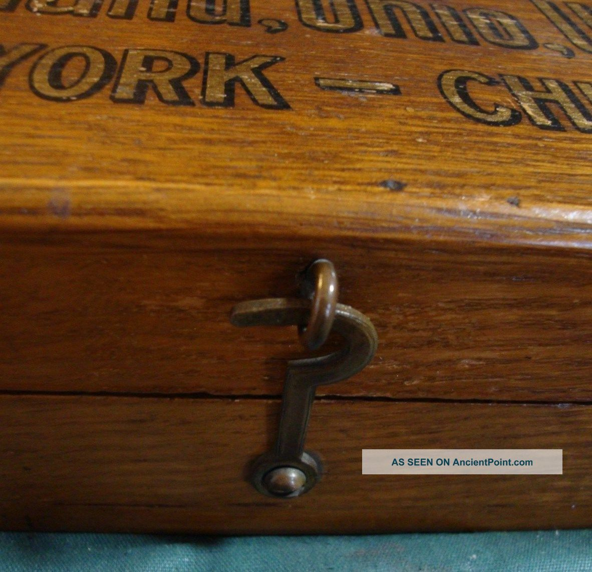 Vintage Cleveland Twist Drill Co Solid Oak Box With Gold Leaf Lettering Boxes photo