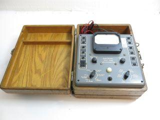 Antique / Vintage Weston Model 769 Electronic Volt Ohm Milliammeter photo
