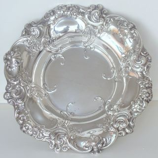 Large Gorham Repousse Sterling Silver Center Rose Bowl