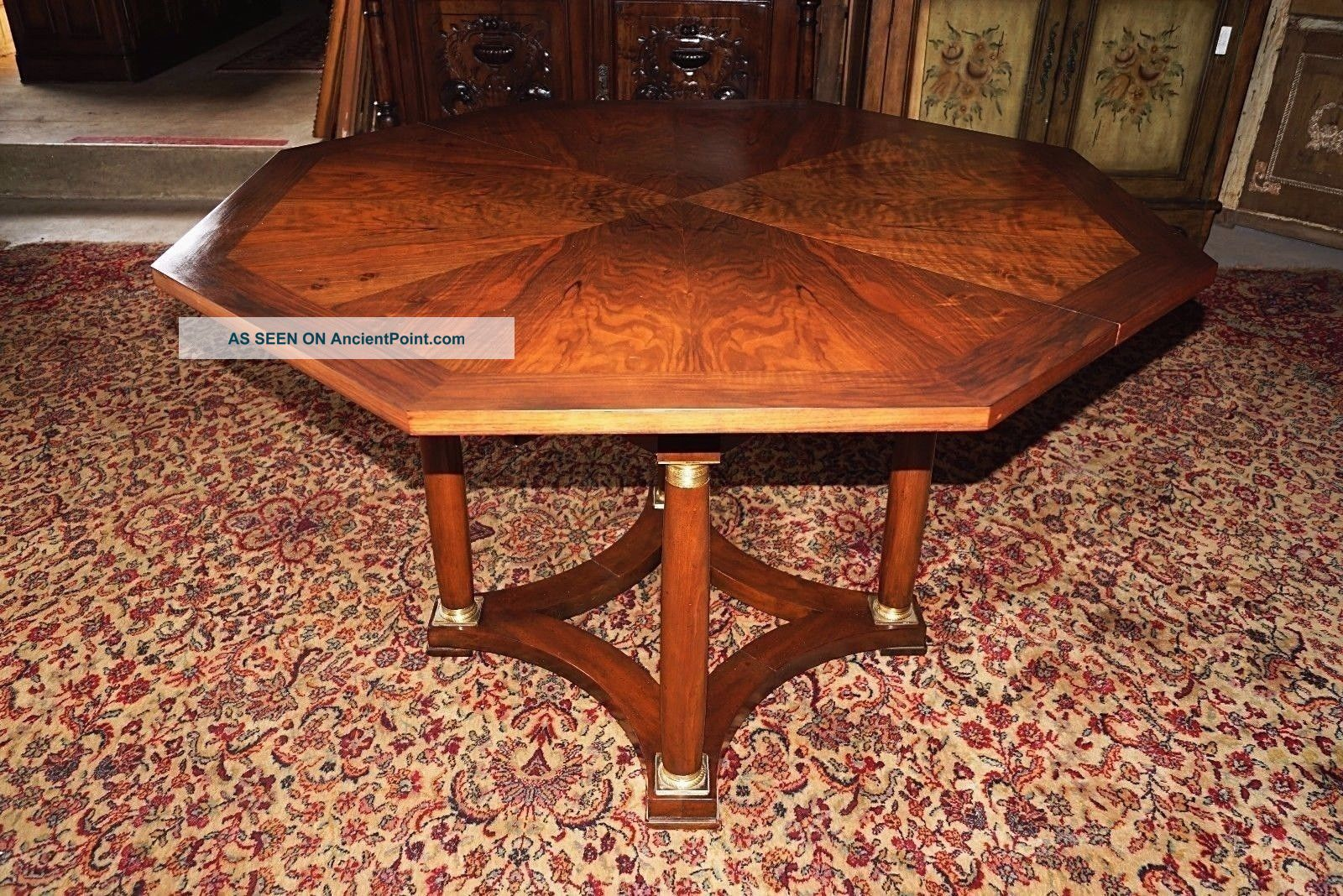 American Dining Room Table 10 Ft Baker Signed Extension Table Kitchen Table 1900-1950 photo