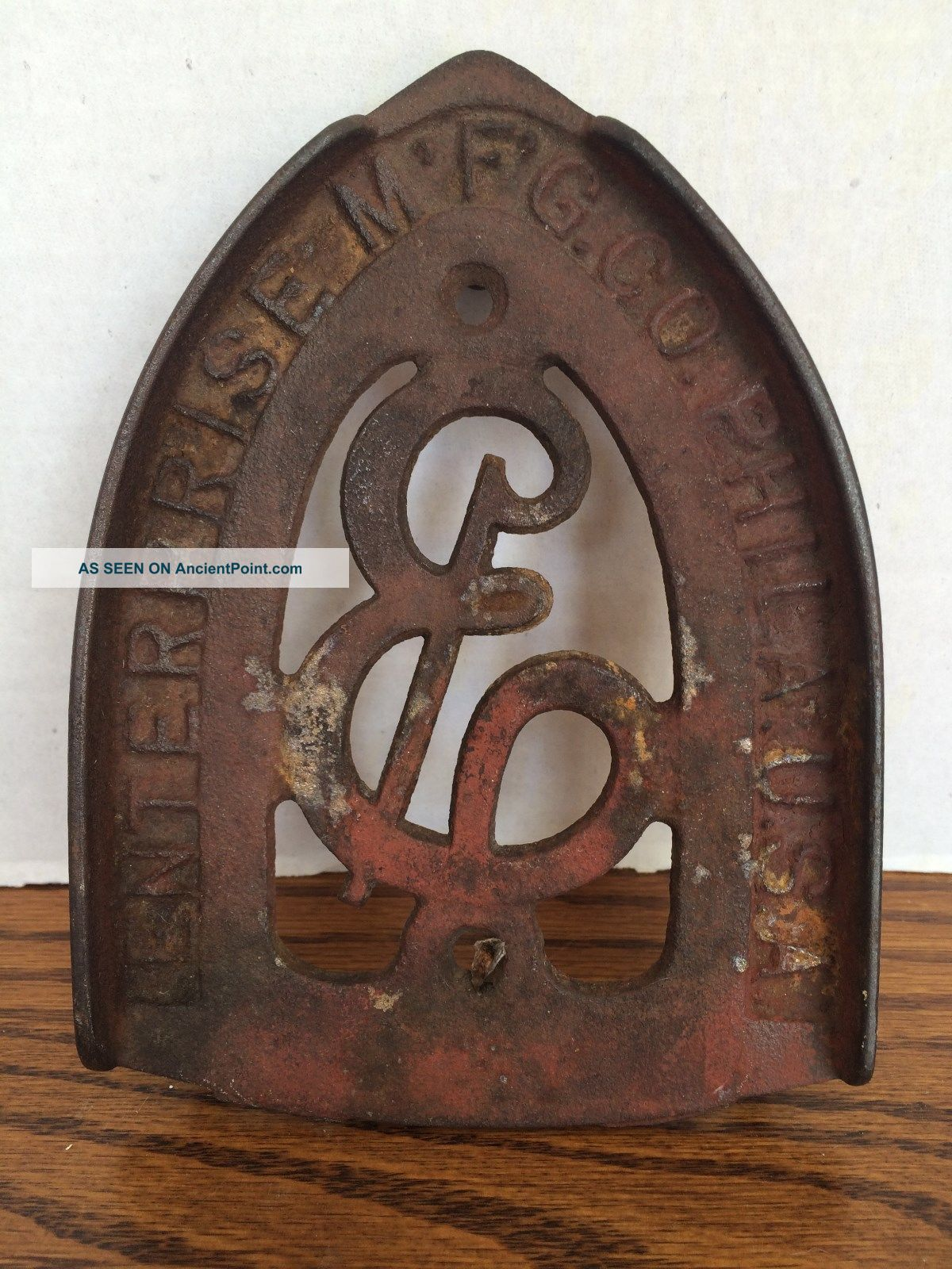 Antique Cast Iron Metal Iron Rest Trivet Enterprise Mfg Co Philadelphia Usa Trivets photo