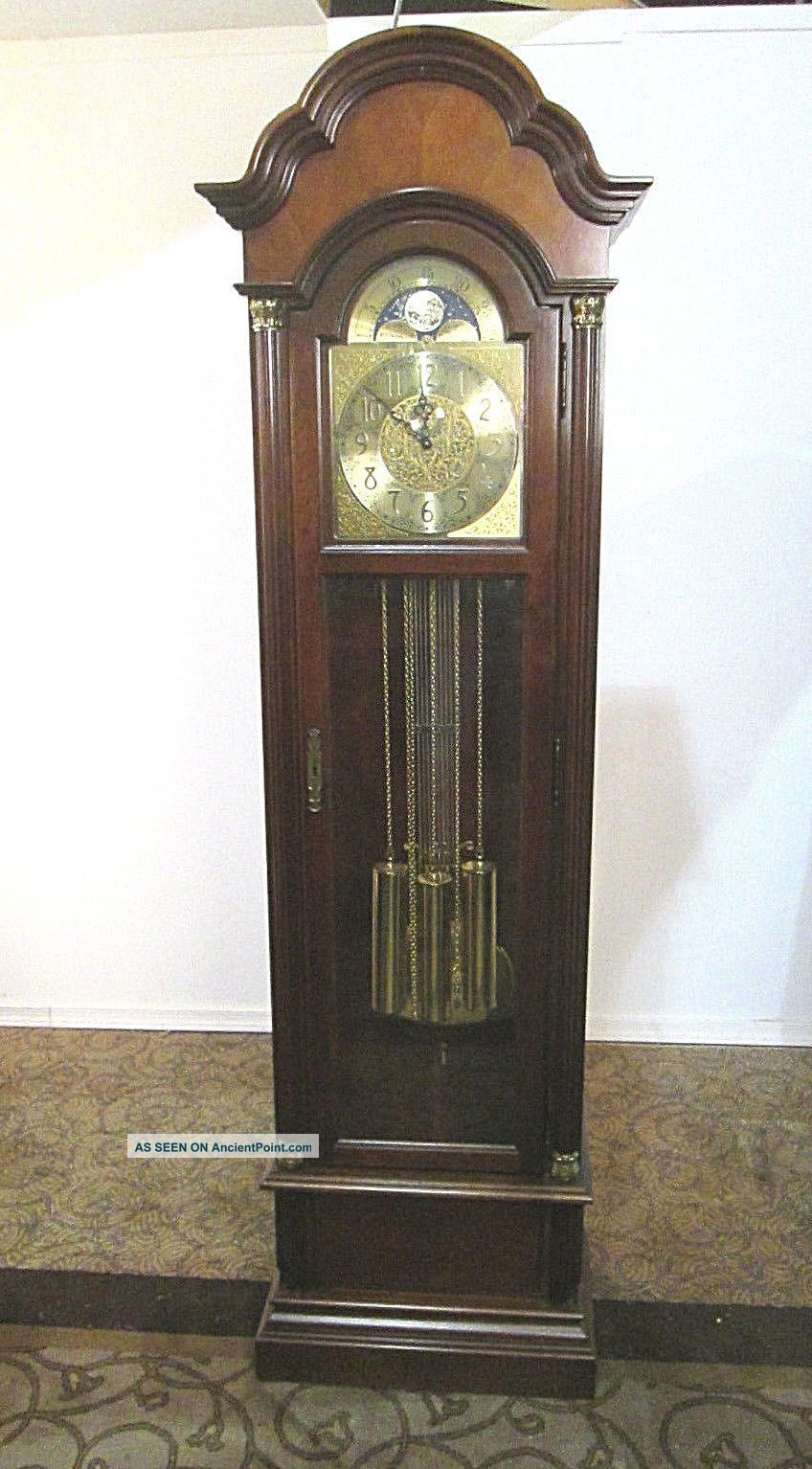 57906 Howard Miller Mahogany Grandfather Clock Clocks photo