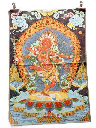 Tibet Collectable Silk Hand Painted Immortal Thangka photo